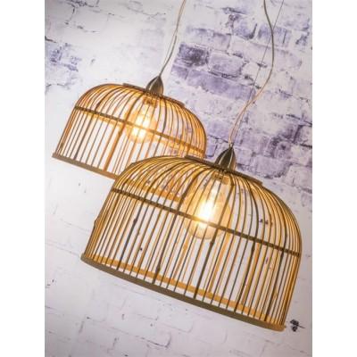 """Dubbele Hanglamp Bamboe """"Borneo"""""""