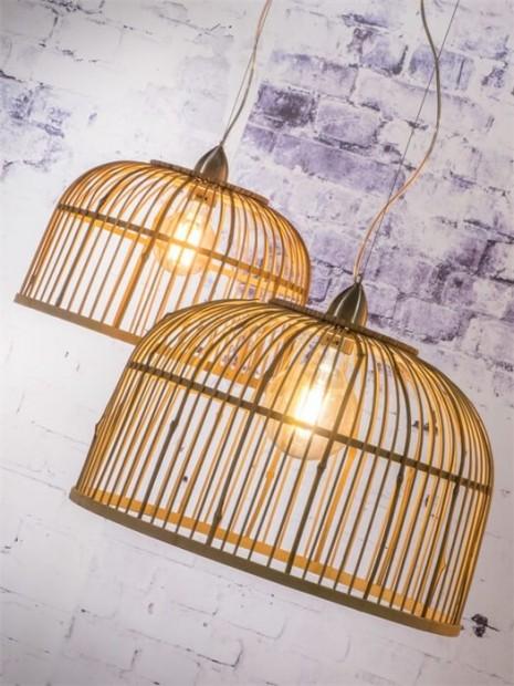 """Dubbele Hanglamp Bamboe """"Borneo"""" Borneo H2"""