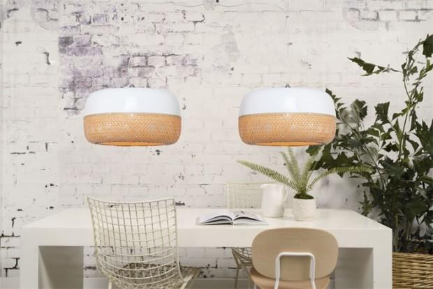 """Dubbele Hanglamp Bamboe """"Mekong"""" Mekong H2"""