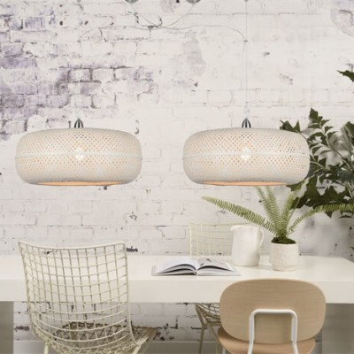 "Dubbele Hanglamp Bamboe ""Palawan"""