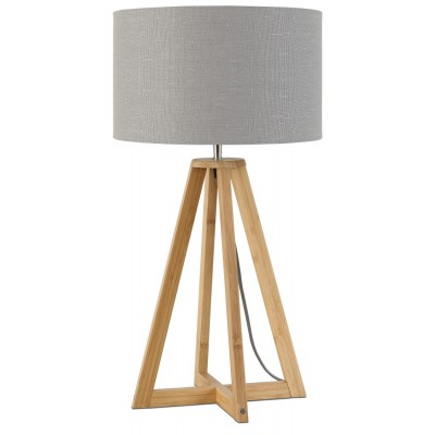 """Good & Mojo Tafellamp """"Everest"""" Bamboe & Linnen"""