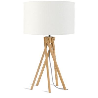 "Tafellamp Bamboe en Linnen ""Kilimanjaro"""