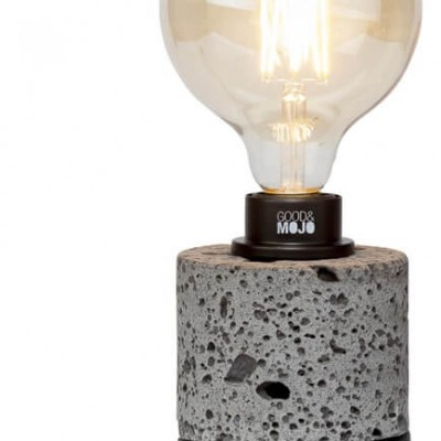 "Vulkaanstenen Tafellamp Antraciet ""Galapagos"""