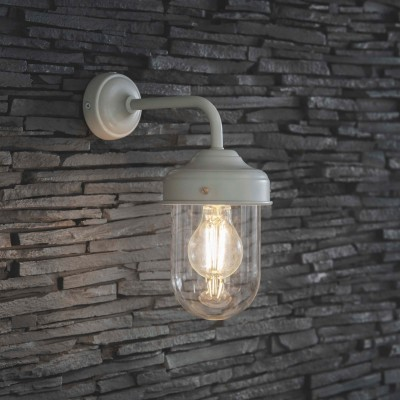 Buitenlamp Industrieel Barn Light Lelie Wit