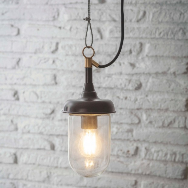 "Hanglamp Buiten veranda ""Harbour Light"" Carbon LACN28"