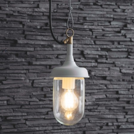 Hanglamp Buiten veranda Harbour Light Lelie Wit