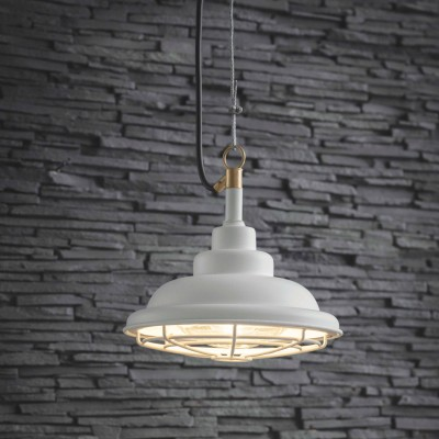 Industriele Hanglamp Buiten Mariner Light Lelie Wit