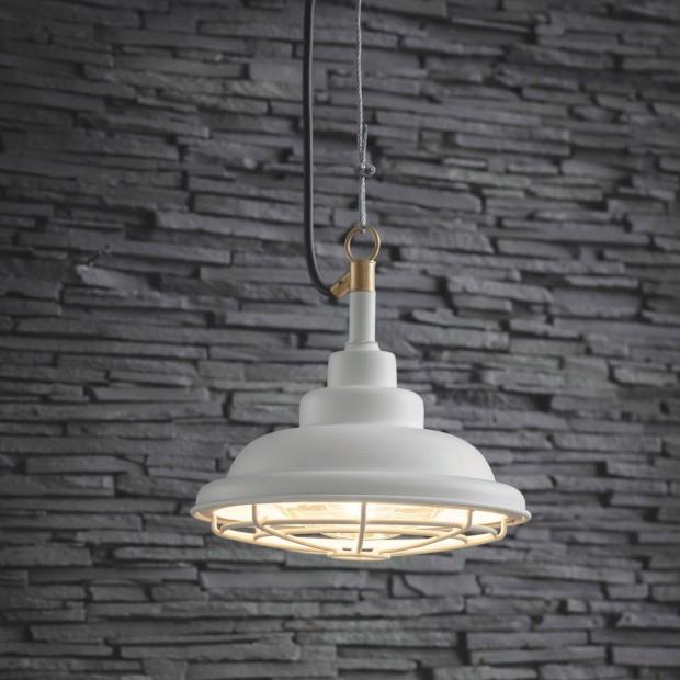 "Industriele Hanglamp Buiten ""Mariner Light"" Lelie Wit LALW04"