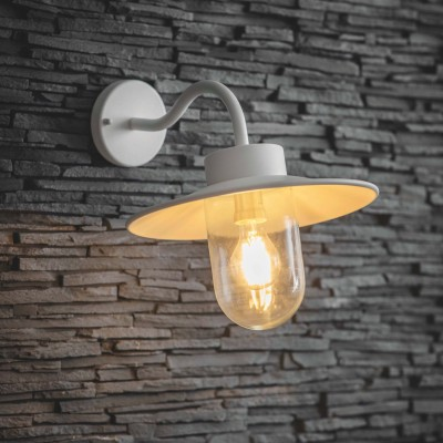 Wandlamp Stallamp Lelie Wit Swan Neck Light