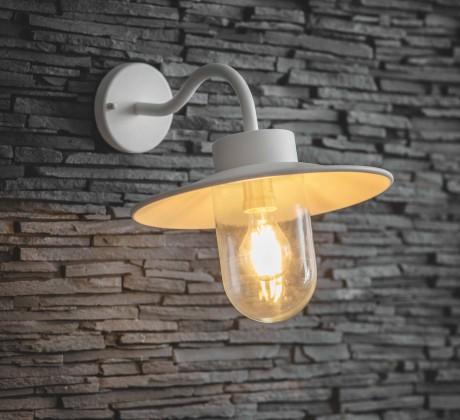 Wandlamp Stallamp Lelie Wit Swan Neck Light