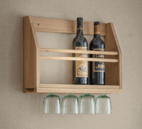 Wijnglazen Rek Muur Hambledon