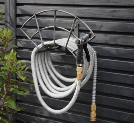 Tuinslanghouder Metaal Zwart Farringdon