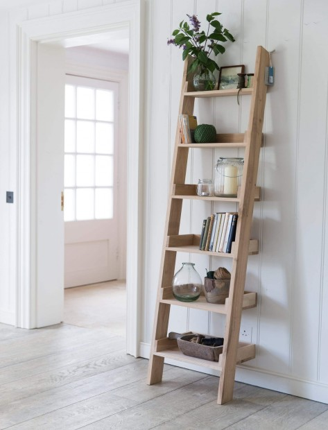 "Decoratie Ladder ""Hambledon"" Eikenhout FUOA02"