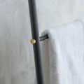 Handdoekenrek Zwart Metaal Adelphi BLST01