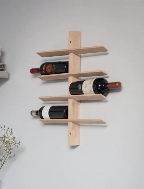 Wijnrek Muur Hout Hambledon 8 Flessen WROA01