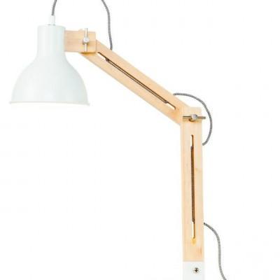 "Houten Industriele Tafellamp ""Melbourne"""