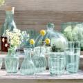 "L.S.A. Stolp ""Mia"" Gerecycled Glas - Met houten Voet 23,5cm LS524028"