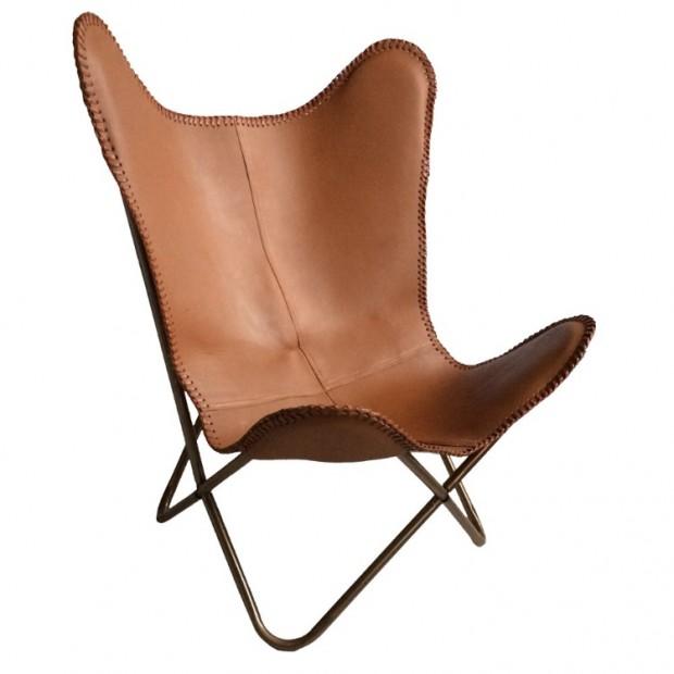 Vlinderstoel Leer Bruin 140705110