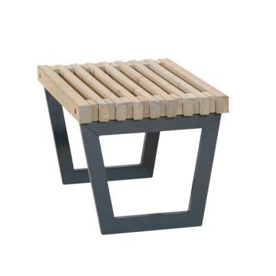 Moderne Tafel/ Kruk Siesta Zwart Metaal