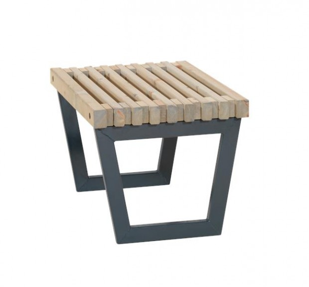 "Moderne Tafel/ Kruk ""Siesta"" Zwart Metaal 19616-12"