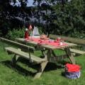 Houten Picknicktafel Met 2 Rugleuningen 185502-1