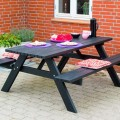 Rugleuning Zwarte Picknicktafel  185850-15