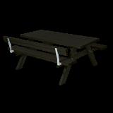 Zwarte Picknicktafel Met 1 Rugleuning