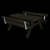 Zwarte Picknicktafel Met 2 Rugleuningen