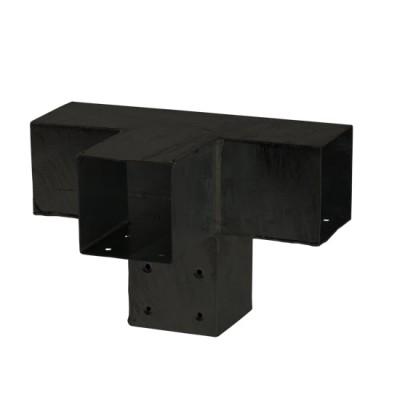Pergola Hoekverbinding Met Verlenging Zwart Cubic