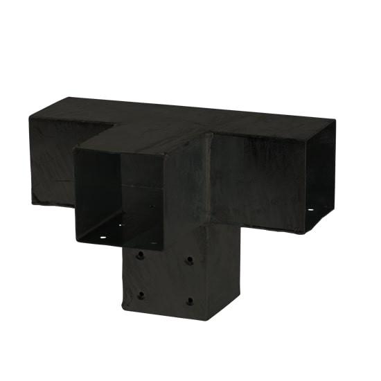 Pergola Hoekverbinding Met Verlenging Zwart Cubic  17973-15