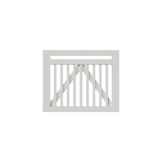 Wit Houten Tuinpoort Linea 100 x 80 CM 17698-13 PRE-ORDER