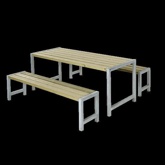 Picknickset Modern Geimpregneerd Hout 185400-1