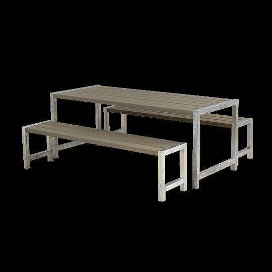 Picknickset Modern Grijs Bruin 185400-18