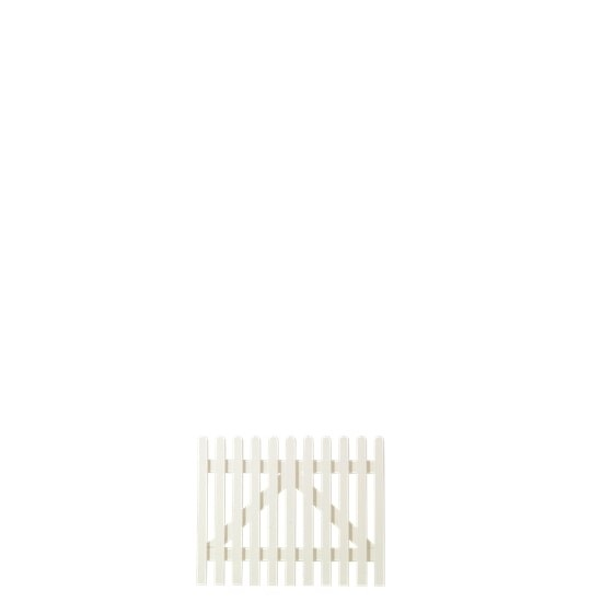 Wit Houten Tuinpoort Retro 100 x 80 CM 13741-13