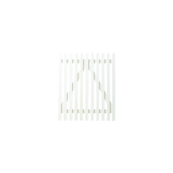 Wit Houten Tuinpoort Skagen Lux 100 x 120 CM 13661-13