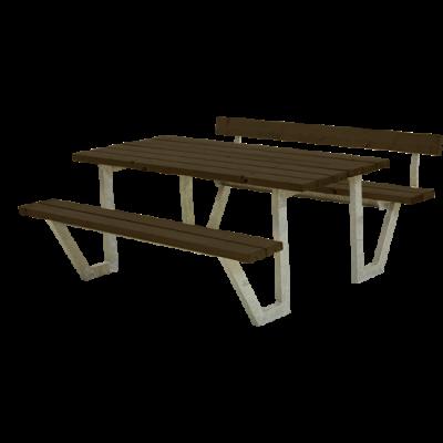 Picknicktafel Stalen Frame Wega Zwart 1 Rugleuning