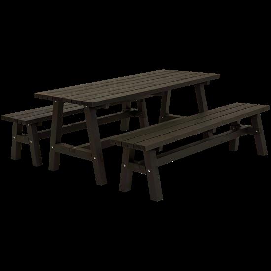 """Houten Picknickset """"Country"""" Zwart 187900-15"""