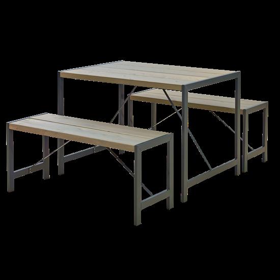 "Moderne Picknickset ""Funkis"" Grijs Bruin 196300-18"