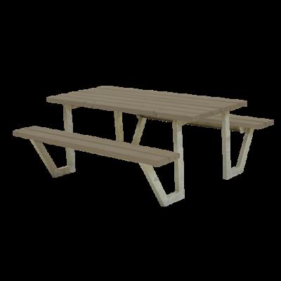 Picknicktafel Stalen Frame Wega Grijs Bruin