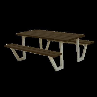 Picknicktafel Stalen Frame Wega Zwart
