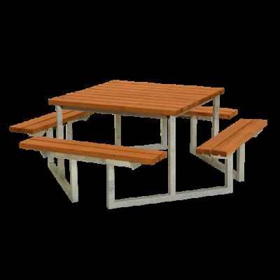 Picknicktafel Vierkant Twist Teak