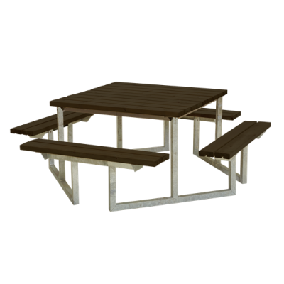 Picknicktafel Vierkant Twist Zwart