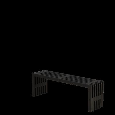Smalle Houten Bank Zwart Rustik 138 CM