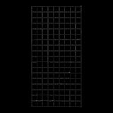 Gaaspaneel Zwart 90 x 180 CM