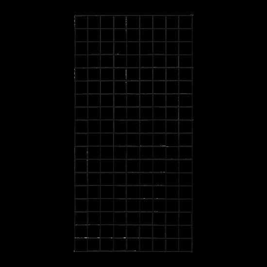 Gaaspaneel Zwart 90 x 180 CM 961617