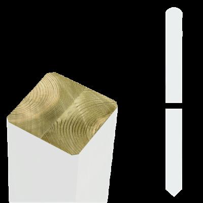 Witte Tuinpalen Hout 7 x 7 x 158 CM Met Punt