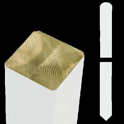 Witte Tuinpalen Hout 9 x 9 x 158 CM Met Punt