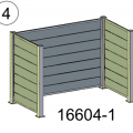 Moderne Kliko Ombouw Composiet Leigrijs 16604-1