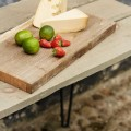 Tuintafel Hout Staal Retro  187430-12