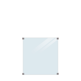 Gehard Gelaagd Helder Glas  90 x 91 CM